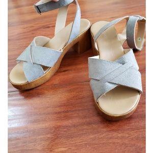 TopShop Ankle Clog Strap Sandals